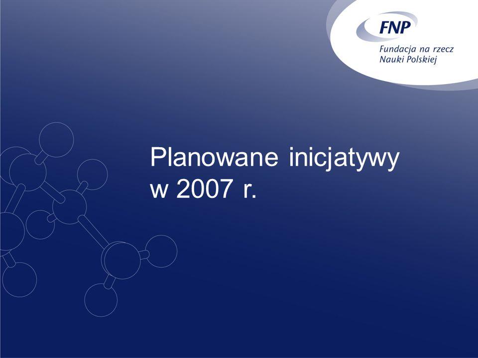 Planowane inicjatywy w 2007 r.