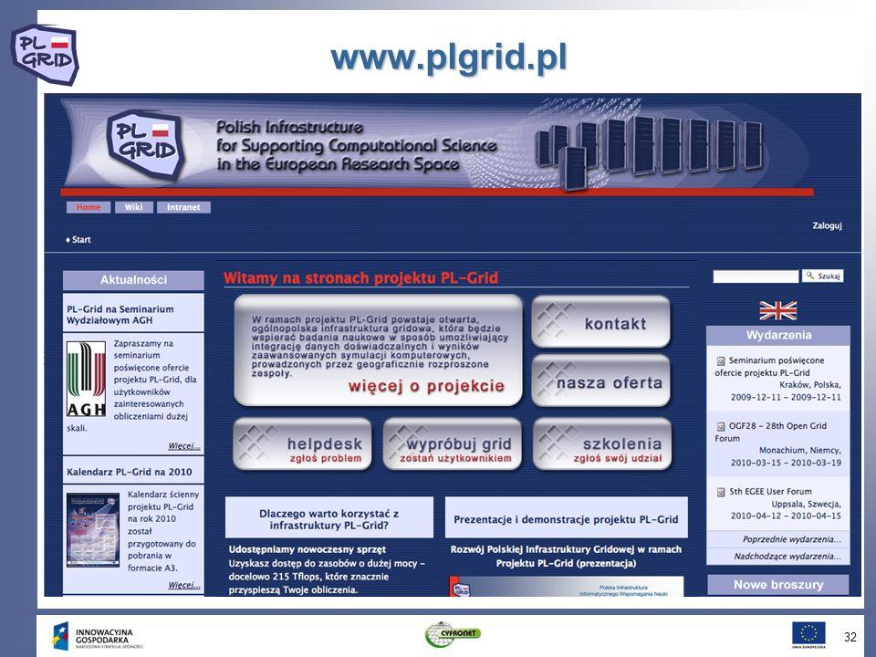 www.plgrid.pl 32