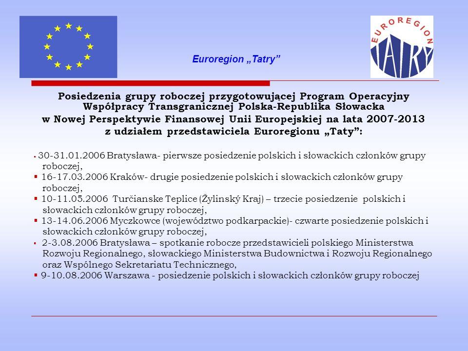 Program Operacyjny Współpracy Transgranicznej Polska- Republika Słowacka 2007-2013 Priorytet 1.