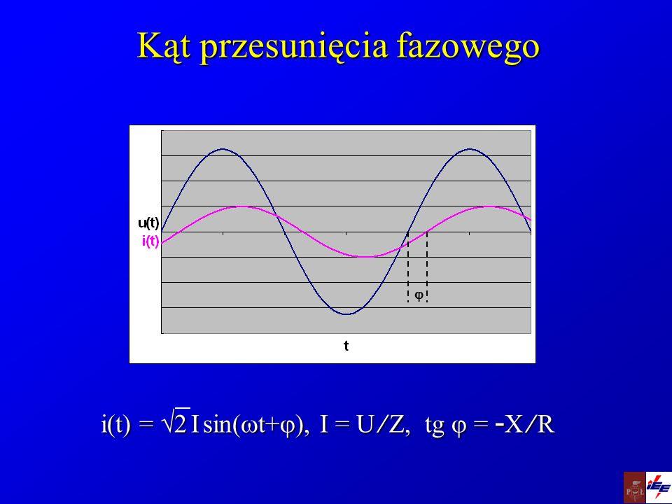 Połączenie impedancji Połączenie szeregowe:Połączenie szeregowe: Z = Z 1 + Z 2 = (R 1 +R 2 ) + j(X 1 +X 2 ) Połączenie równoległe:Połączenie równoległe: 1/ Z = 1/ Z 1 + 1/ Z 2 Z = Z1Z1 Z2Z2 Z1Z1 Z2Z2 Z1 Z2Z1 Z2Z1 Z2Z1 Z2 Z1+Z2Z1+Z2Z1+Z2Z1+Z2 ________