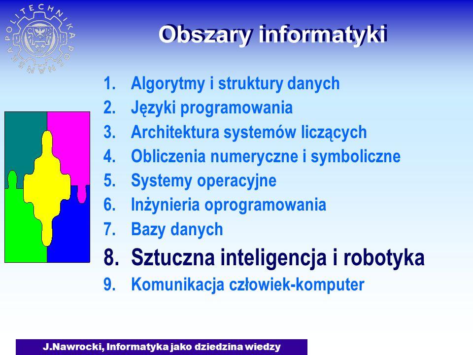 J.Nawrocki, Informatyka jako dziedzina wiedzy Obszary informatyki Jak rozpoznawać obrazy lub pismo.