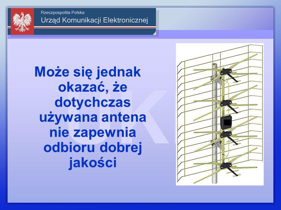 Może się jednak okazać, że dotychczas używana antena nie zapewnia odbioru dobrej jakości