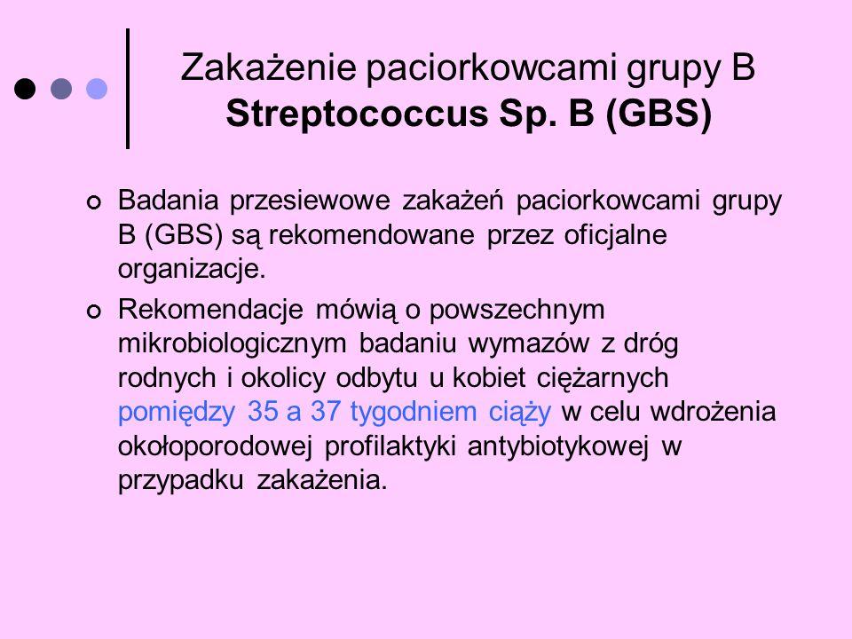 Badania przesiewowe zakażeń paciorkowcami grupy B (GBS) są rekomendowane przez oficjalne organizacje. Rekomendacje mówią o powszechnym mikrobiologiczn