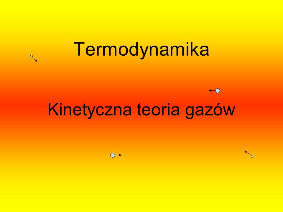 Termodynamika Kinetyczna teoria gazów