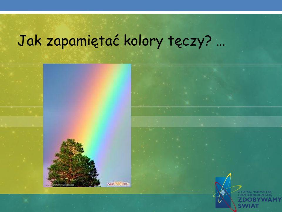 Jak zapamiętać kolory tęczy? …