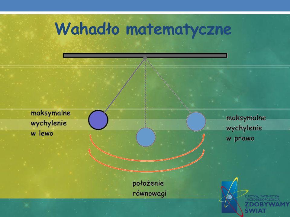 Amplituda, okres drgań Amplituda [ A ] - czyli największe wychylenie względem położenia równowagi.