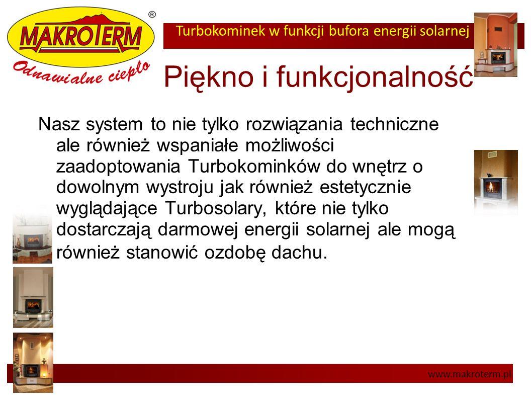 Turbokominek w funkcji bufora energii solarnej www.makroterm.pl Piękno i funkcjonalność Nasz system to nie tylko rozwiązania techniczne ale również ws