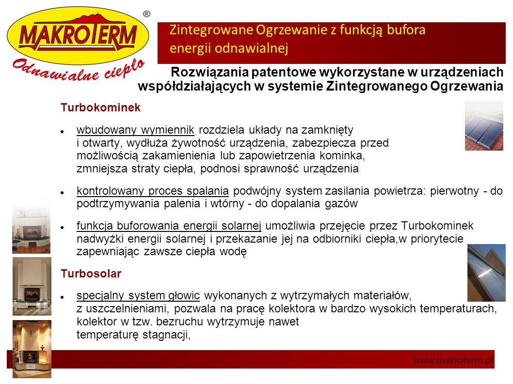 Zintegrowane Ogrzewanie z funkcją bufora energii odnawialnej www.makroterm.pl Rozwiązania patentowe wykorzystane w urządzeniach współdziałających w sy