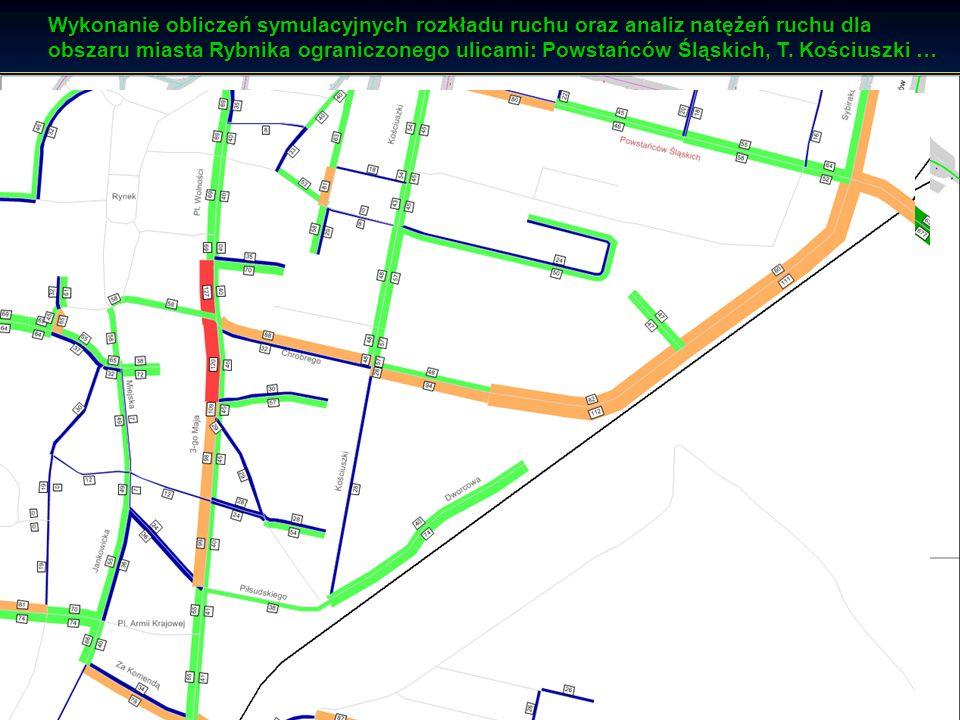 Katedra Budownictwa Drogowego Analizy symulacyjne ruchu drogowego wariant 1 - pełna reorganizacja ruchu drogowowego zgodnie z wcześniejszymi założenia
