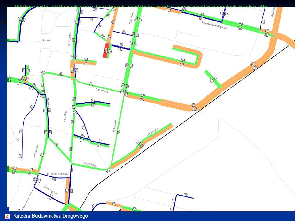 Katedra Budownictwa Drogowego Analizy symulacyjne ruchu drogowego Wykonanie obliczeń symulacyjnych rozkładu ruchu oraz analiz natężeń ruchu dla obszar