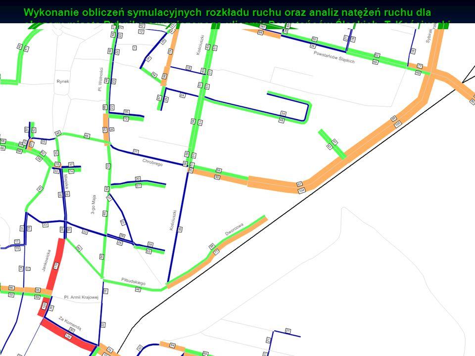 Katedra Budownictwa Drogowego Analizy symulacyjne ruchu drogowego Etapy wdrażania wariantu 5 Wykonanie obliczeń symulacyjnych rozkładu ruchu oraz anal
