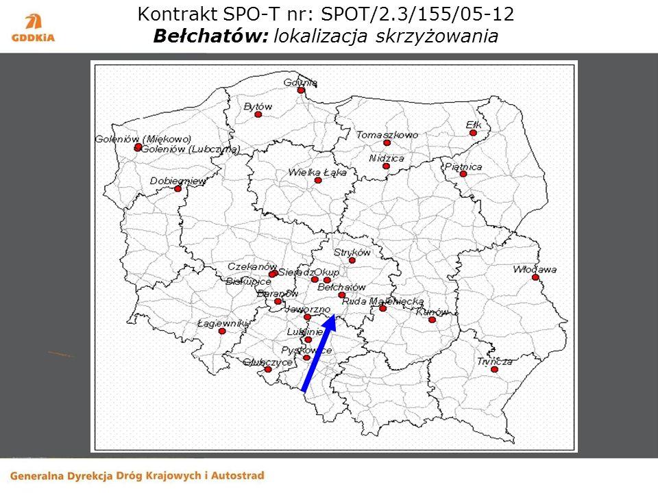 Kontrakt SPO-T nr: SPOT/2.3/155/05-12 Bełchatów: lokalizacja skrzyżowania