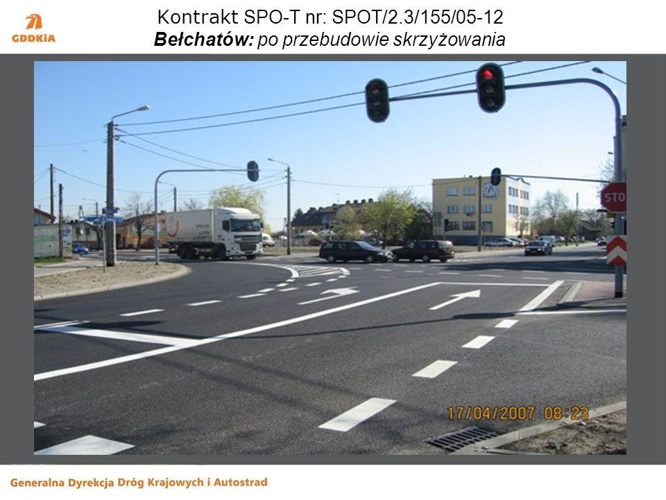 Kontrakt SPO-T nr: SPOT/2.3/155/05-12 Bełchatów: po przebudowie skrzyżowania