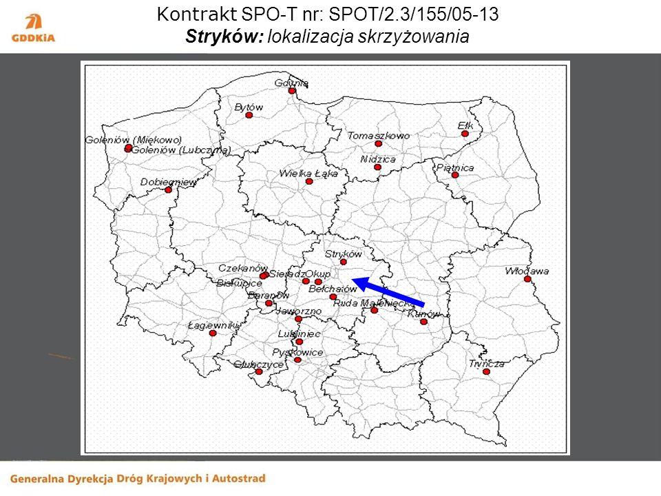 Kontrakt SPO-T nr: SPOT/2.3/155/05-13 Stryków: lokalizacja skrzyżowania
