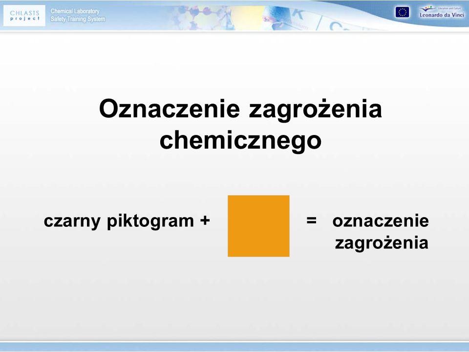 Oznaczenie zagrożenia chemicznego czarny piktogram + = oznaczenie zagrożenia