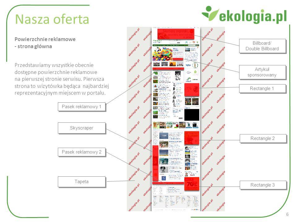 www.ekologia.pl Nasza oferta Artykuł sponsorowany ukazuje się w wybranej kategorii przez cały czas trwania abonamentu.