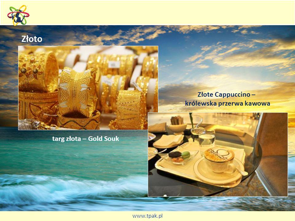 Złoto targ złota – Gold Souk Złote Cappuccino – królewska przerwa kawowa www.tpak.pl