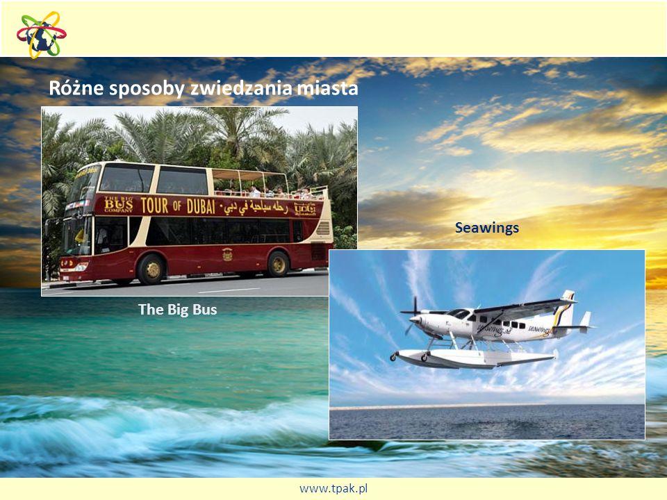 Różne sposoby zwiedzania miasta The Big Bus Seawings www.tpak.pl