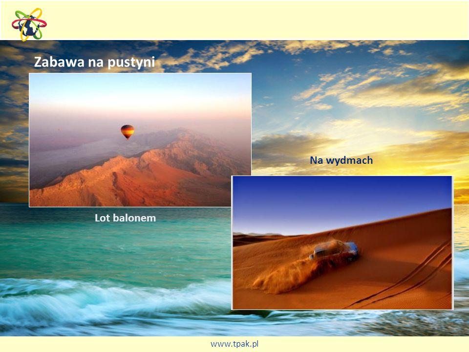 Zabawa na pustyni Lot balonem Na wydmach www.tpak.pl