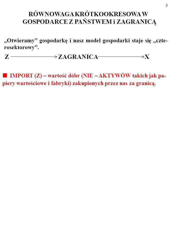 3 Z ZAGRANICA X IMPORT (Z) – wartość dóbr (NIE – AKTYWÓW takich jak pa- piery wartościowe i fabryki) zakupionych przez nas za granicą.