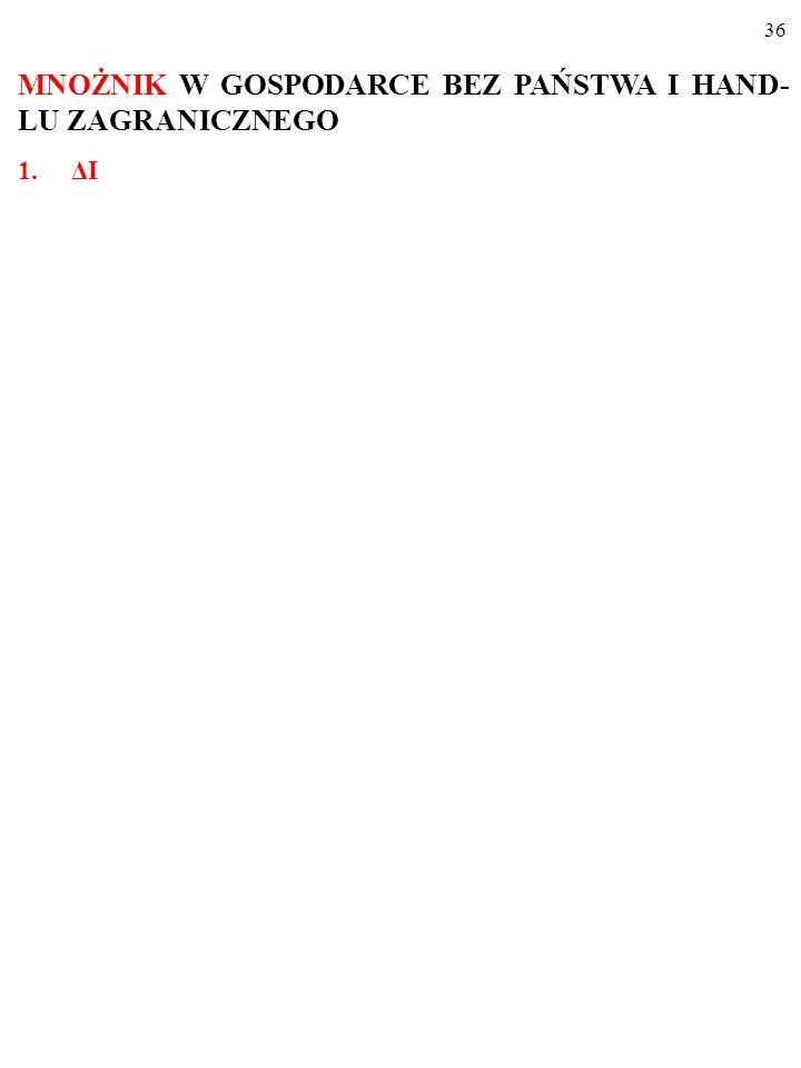 35 MNOŻNIK W GOSPODARCE BEZ PAŃSTWA I HAND- LU ZAGRANICZNEGO (procesy mnożnikowe, mnożnik- liczba)