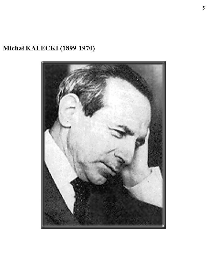 65 M=1/(1-KSK)=1/[1-(KSK(1-t)] Mnożnik w gospodarce z państwem jest mniejszy niż w gospodar- ce bez państwa (podatki powodują, że KSK<KSK!).