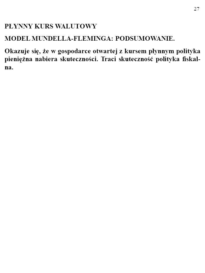 26 Restrykcyjna polityka fiskalna (kurs płynny).YAENXCFCF MYAE NT G PL D r i i 0 Y iziz LM IS BP=0 E E IS