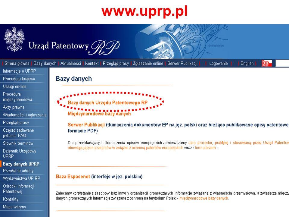 Baza: wynalazki polskie Wyszukiwanie zaawansowane według symboli MKP - B62B1/00