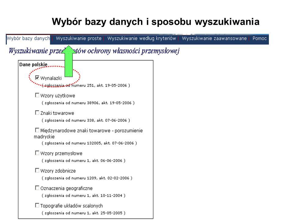 Wybór rodzaju wyszukiwania Baza: wynalazki polskie Pytanie: tytuł silnik spalinowy
