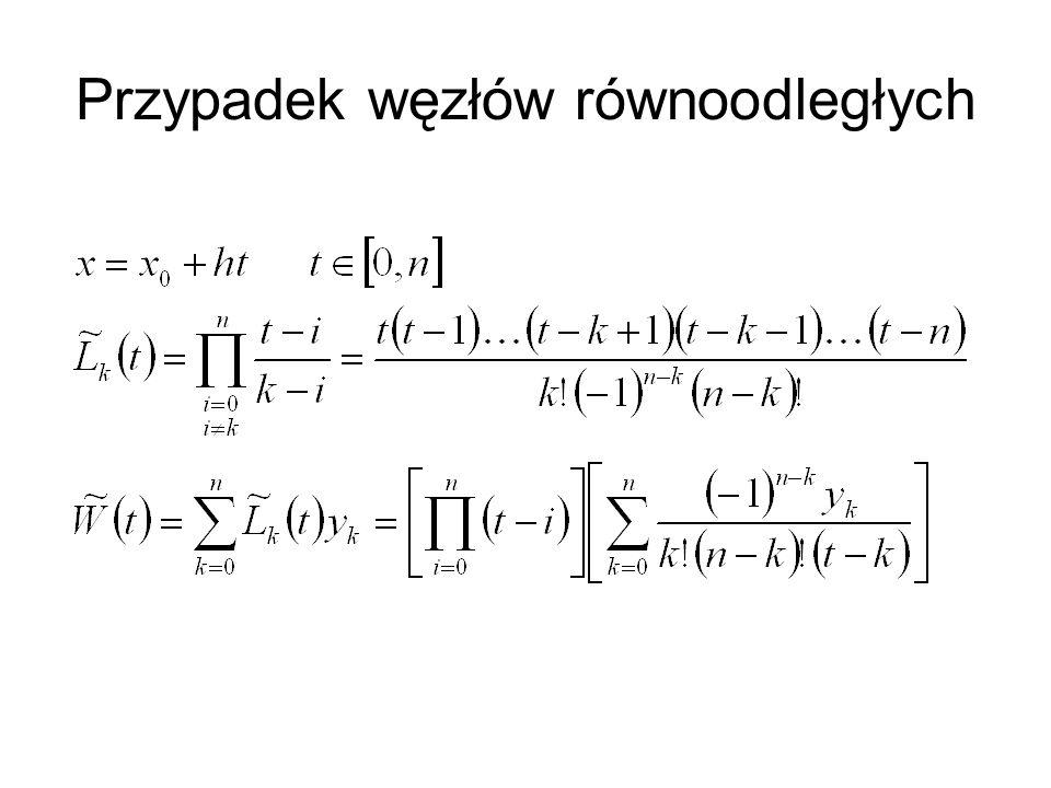 Definiujemy odwrotne ilorazy różnicowe Wtedy wymierną funkcję interpolacyjną można przedstawić w postaci następującego ułamka ciągłego