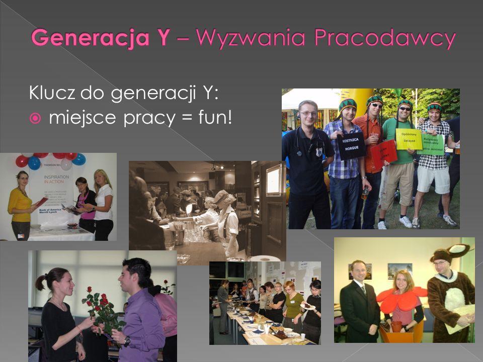 Klucz do generacji Y: miejsce pracy = fun!