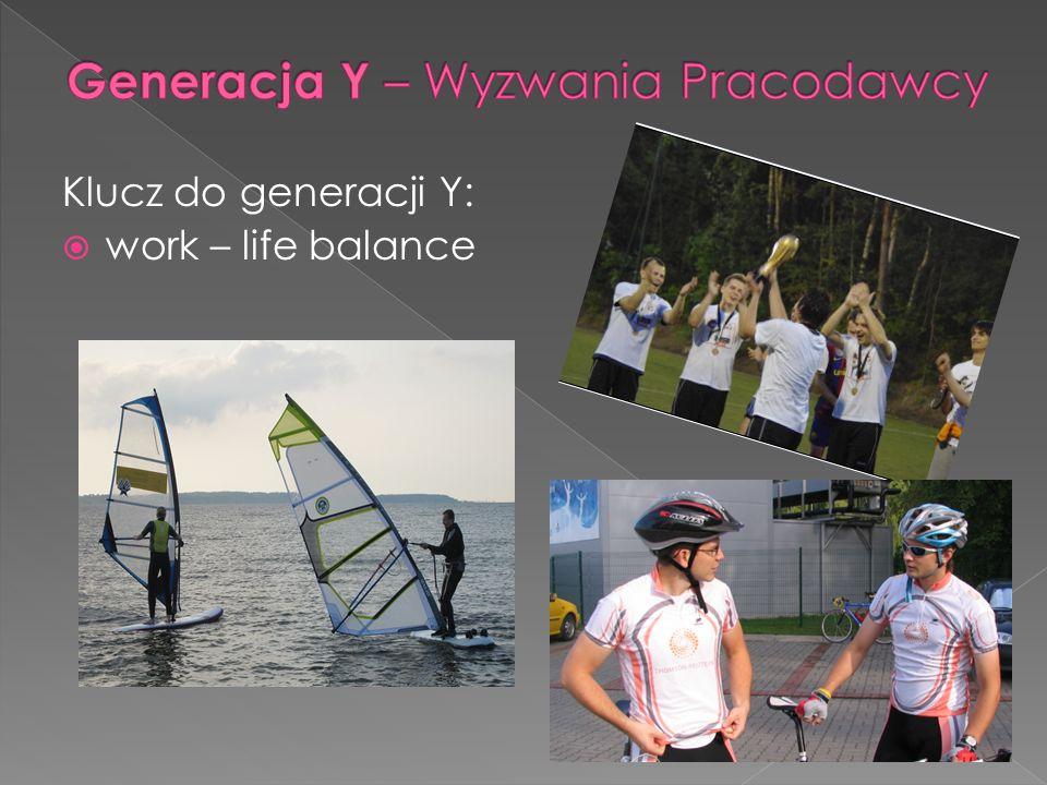 Klucz do generacji Y: work – life balance