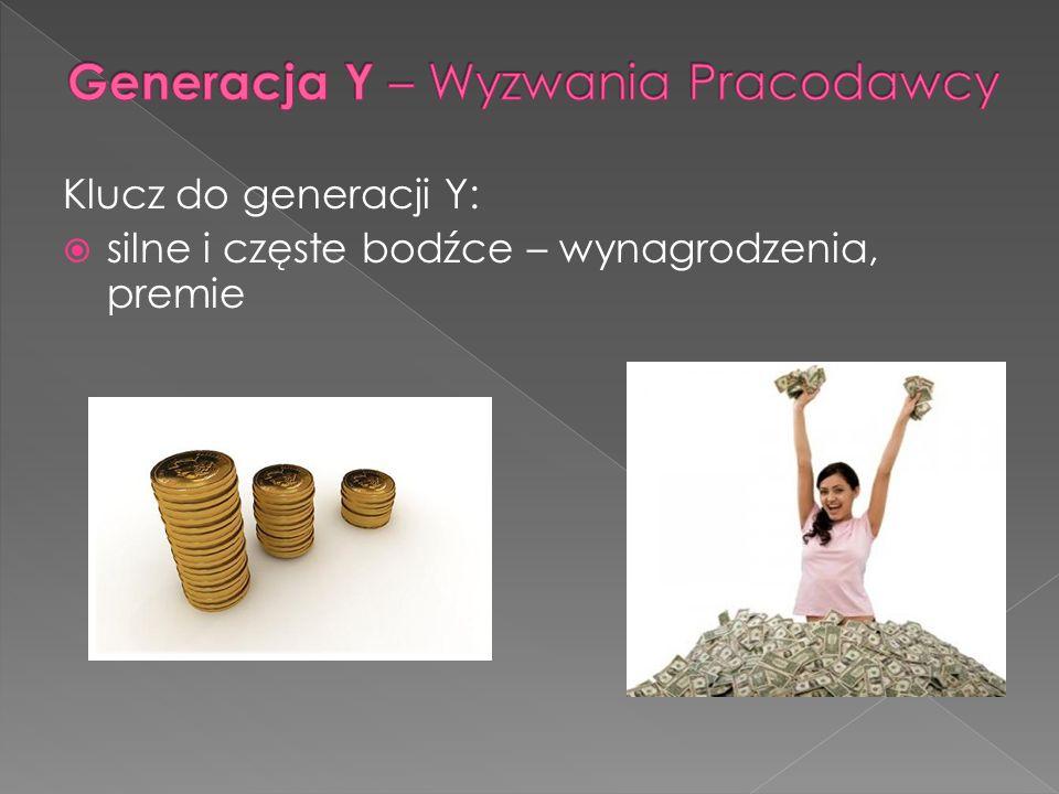 Klucz do generacji Y: silne i częste bodźce – wynagrodzenia, premie