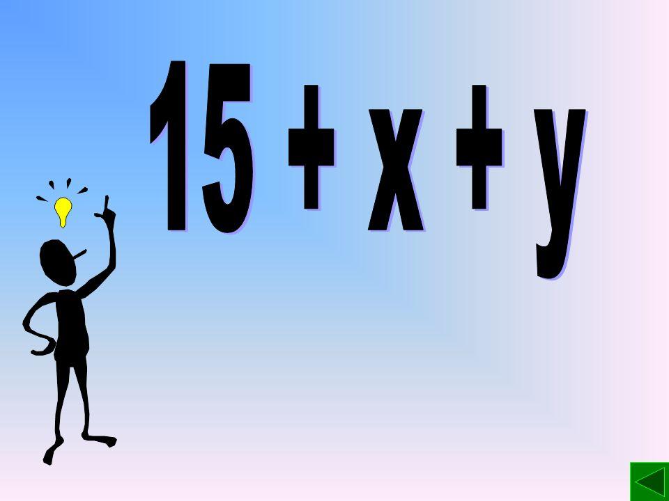 Ćwiczenie W sadzie rosły jabłonie, grusze i śliwy. Jabłoni było 15. Liczbę grusz w tym sadzie oznaczono literą x, a liczbę śliw – literą y.y. Używając