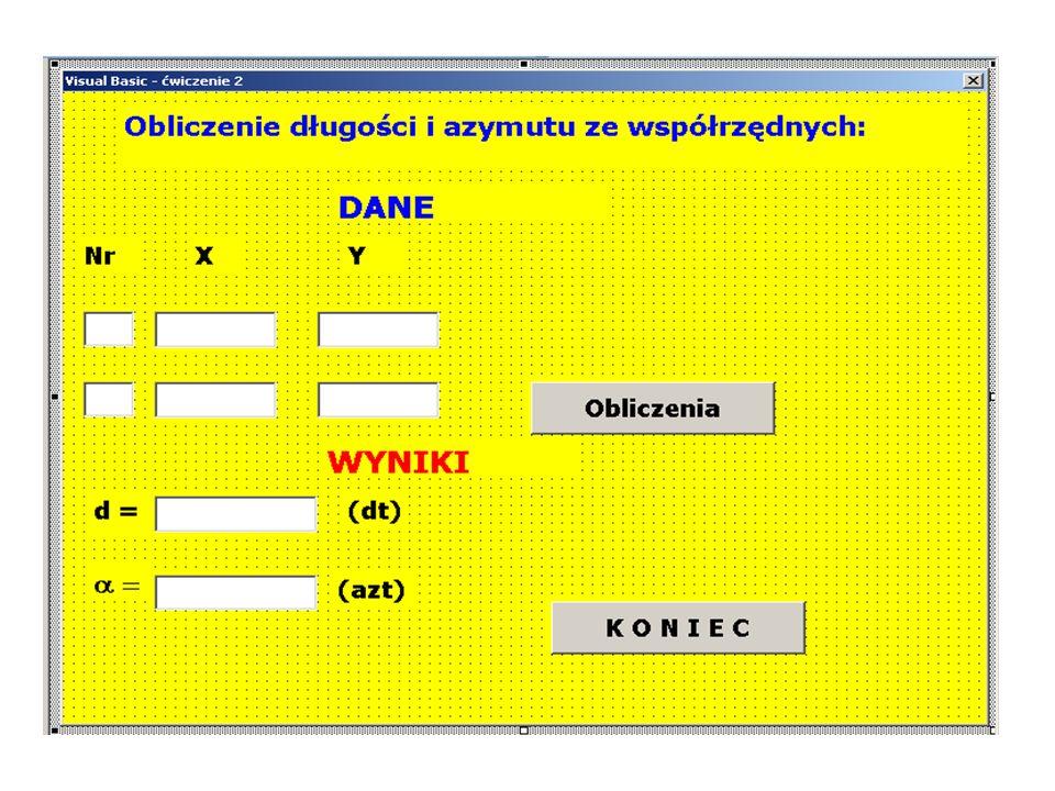 W celu określenia nazwy i lokalizacji pliku tekstowego zawierającego numery punktów i współrzędne można zastosować instrukcję InputBox.
