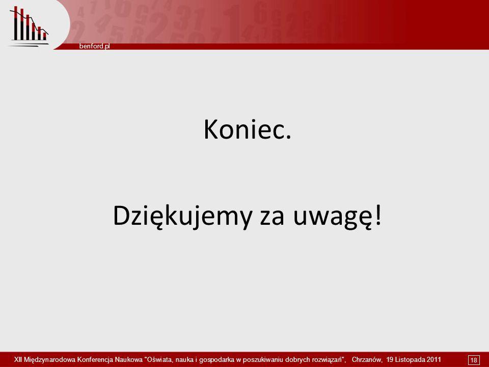 18 benford.pl XII Międzynarodowa Konferencja Naukowa