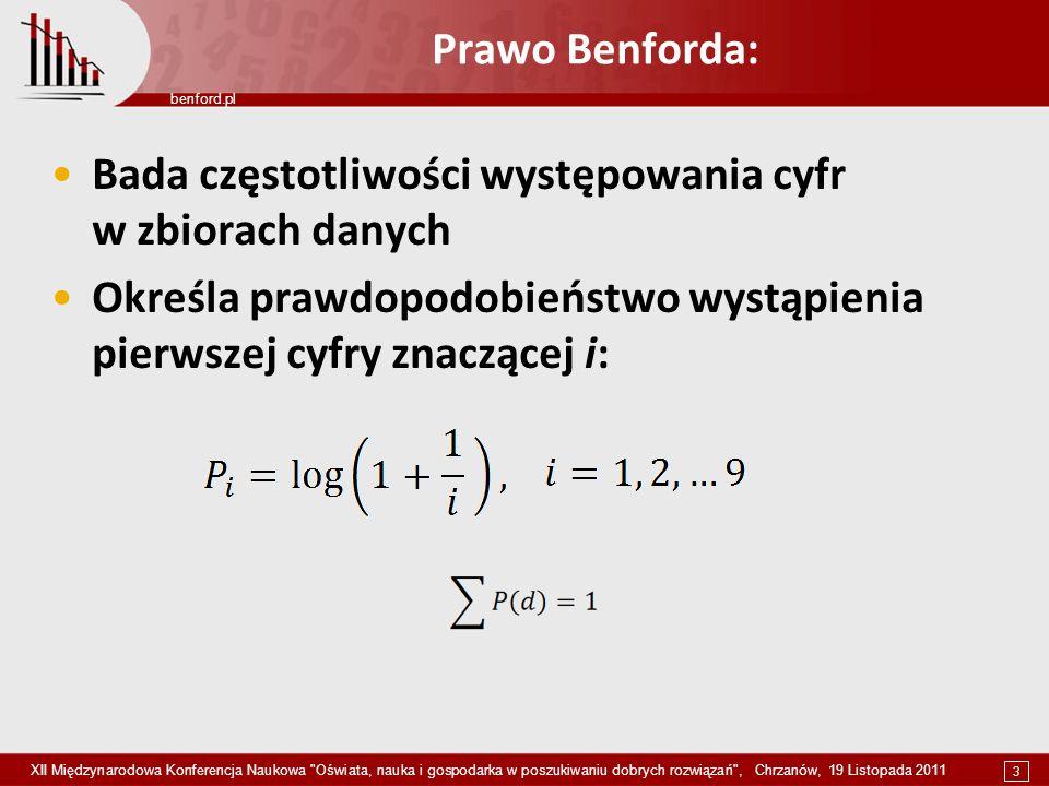 3 benford.pl XII Międzynarodowa Konferencja Naukowa