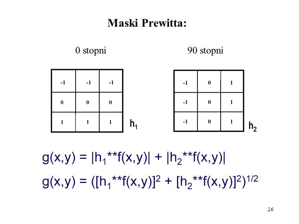 26 Maski Prewitta: 0 stopni 90 stopni