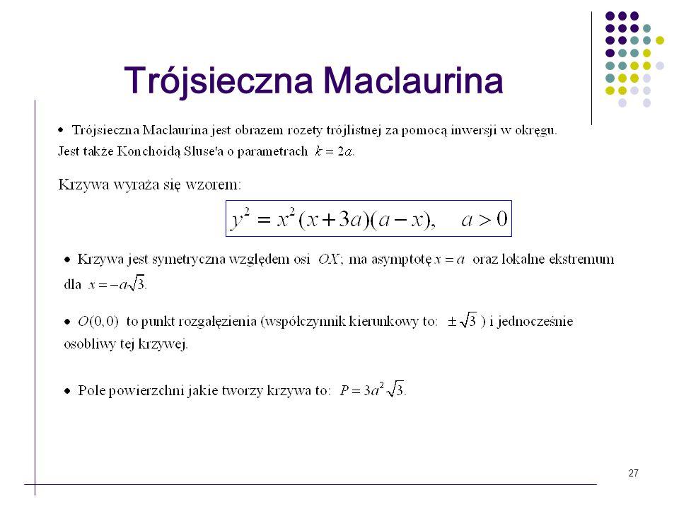 27 Trójsieczna Maclaurina