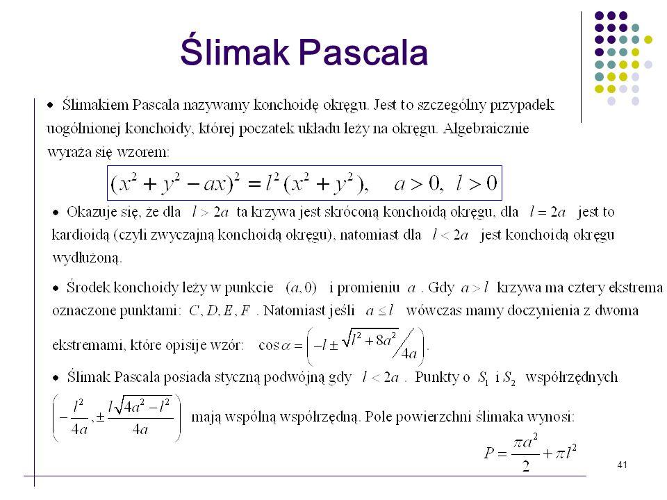 41 Ślimak Pascala