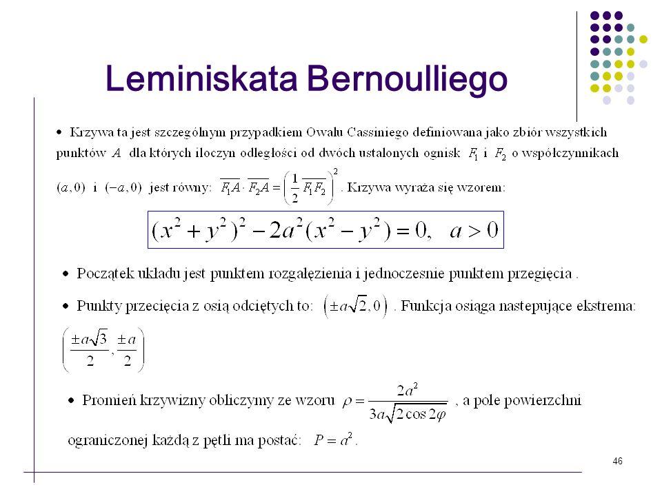 46 Leminiskata Bernoulliego