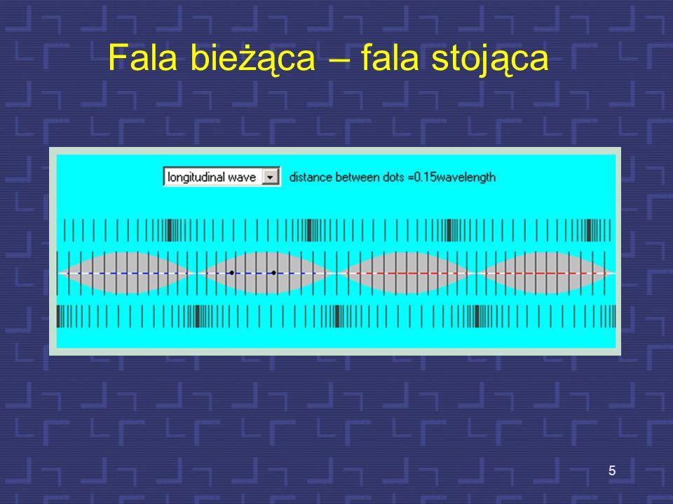 4 Rezonanse w falowodach cylindrycznych – fale stojące Są dwa rodzaje falowodów cylindrycznych: a)Rura zamknięta na jednym końcu, otwarta na drugim b)
