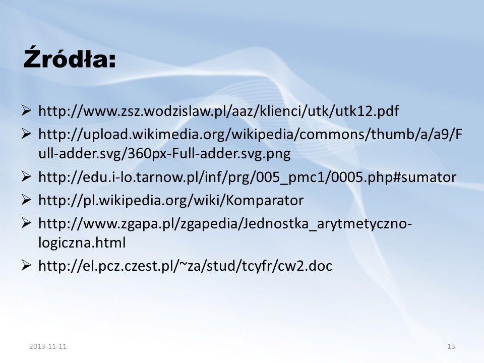 http://www.zsz.wodzislaw.pl/aaz/klienci/utk/utk12.pdf http://upload.wikimedia.org/wikipedia/commons/thumb/a/a9/F ull-adder.svg/360px-Full-adder.svg.pn