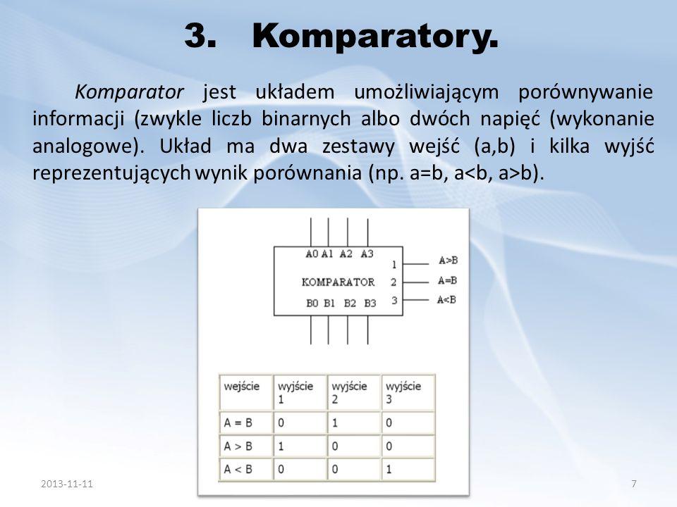 3.1.Komparator analogowy.