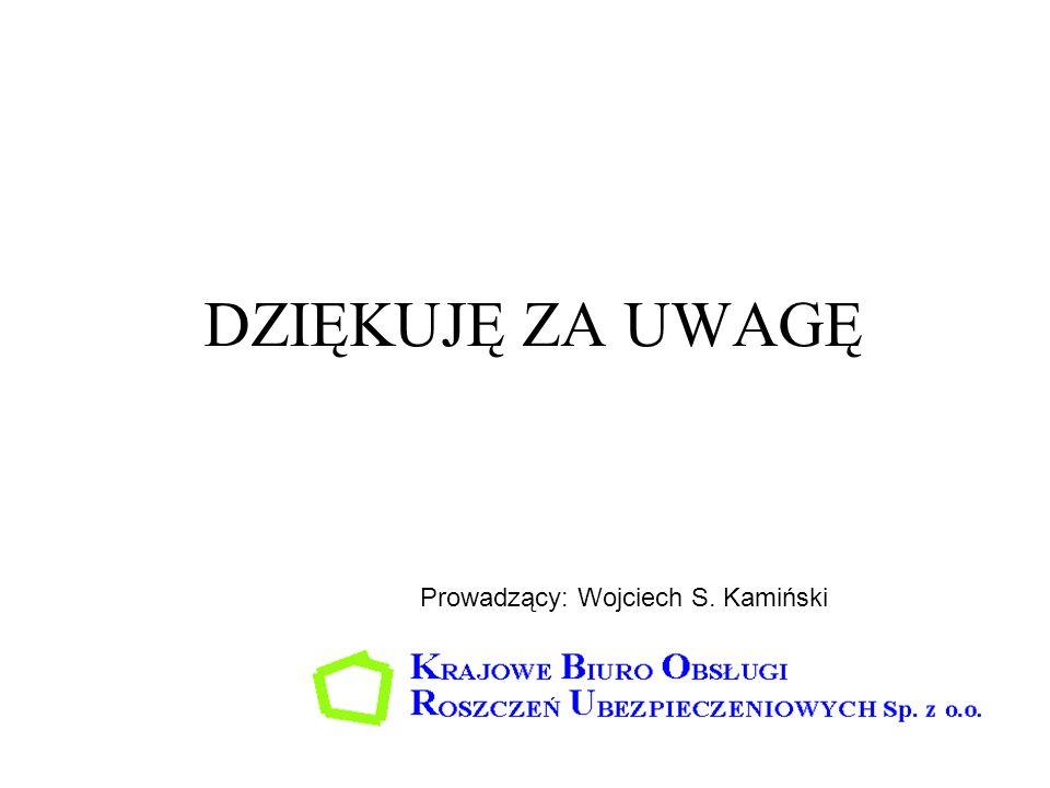 DZIĘKUJĘ ZA UWAGĘ Prowadzący: Wojciech S. Kamiński