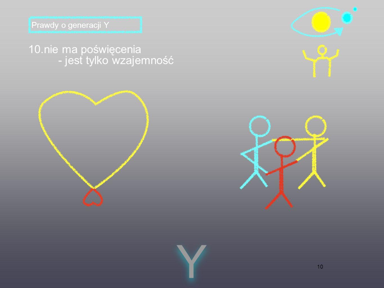 10 10.nie ma poświęcenia - jest tylko wzajemność Y Y Prawdy o generacji Y