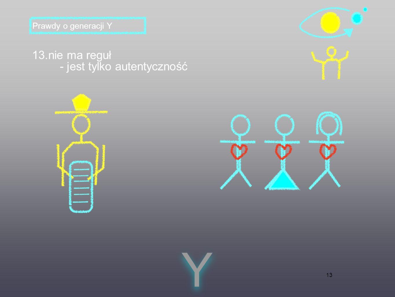 13 13.nie ma reguł - jest tylko autentyczność Y Y Prawdy o generacji Y