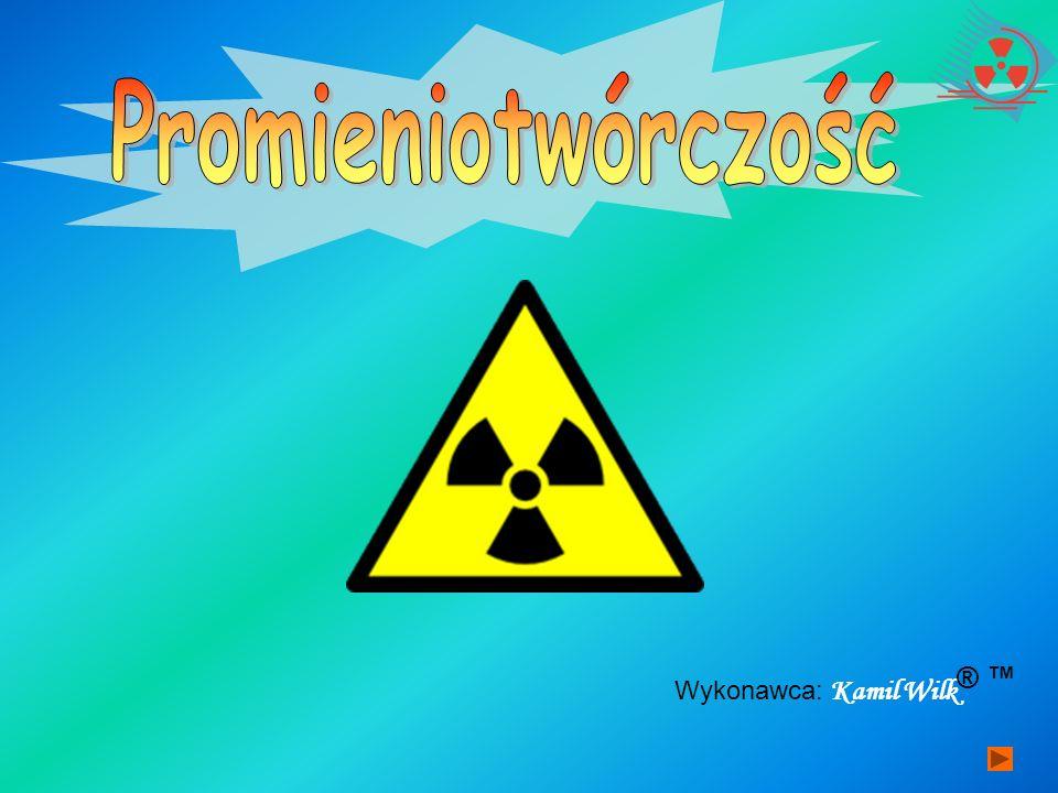 Spis slajdów : 1.Promieniotwórczość naturalnaPromieniotwórczość naturalna Promieniowanie ALFA Promieniowanie BETA Promieniowanie GAMMA Szeregi promieniotwórczości 2.Promieniotwórczość sztucznaPromieniotwórczość sztuczna Reakcje jądrowe Reakcja łańcuchowa Reaktory jądrowe Transuranowce