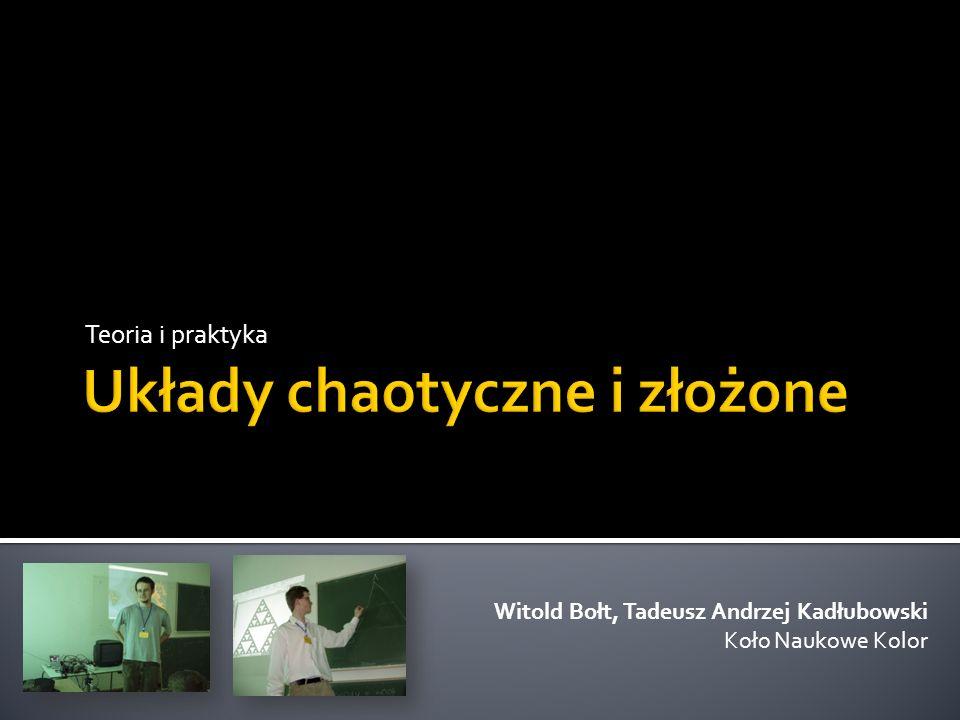 Teoria i praktyka Witold Bołt, Tadeusz Andrzej Kadłubowski Koło Naukowe Kolor