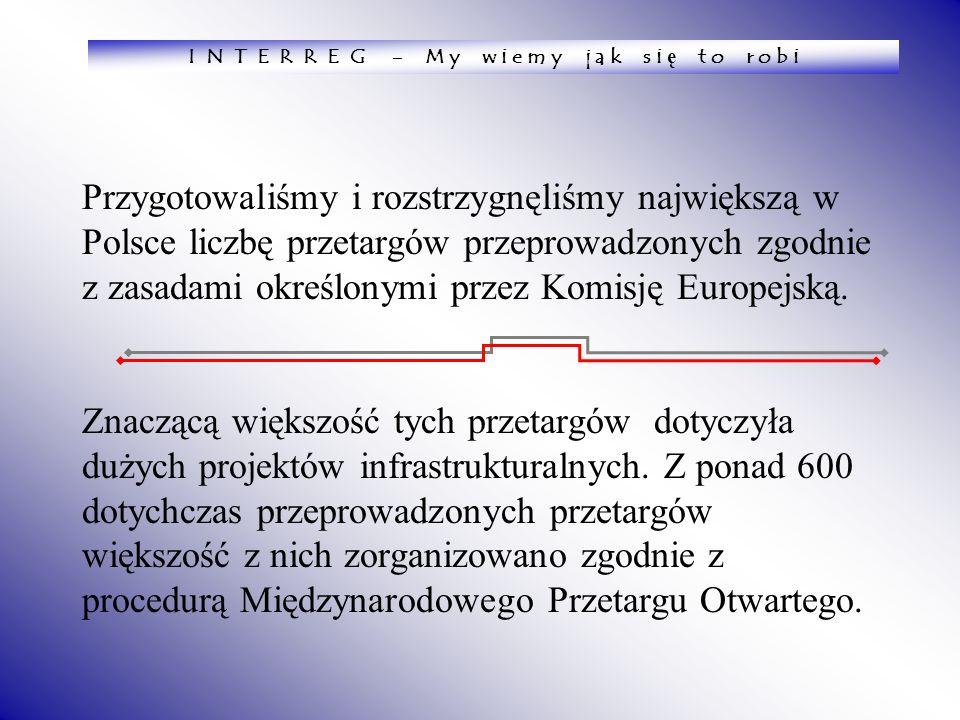 Przygotowaliśmy i rozstrzygnęliśmy największą w Polsce liczbę przetargów przeprowadzonych zgodnie z zasadami określonymi przez Komisję Europejską. Zna